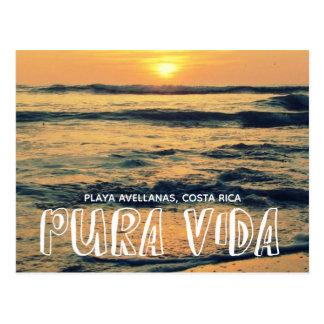 休暇の写真のPuraあなたのVidaコスタリカの記念品 ポストカード