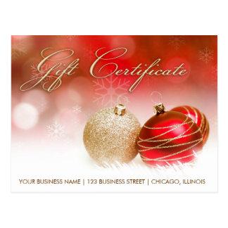 休暇の季節およびクリスマスのギフト券 ポストカード