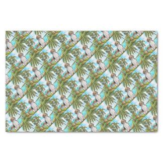 休暇の熱帯ビーチのビーグル犬 薄葉紙