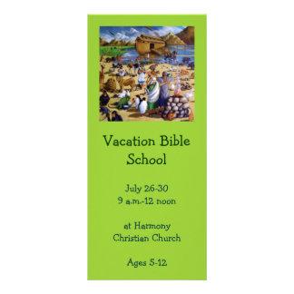 休暇の聖書の学校の招待状: ノアの絵画 ラックカード