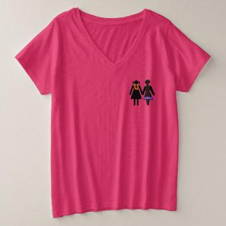 休暇のGRLZ プラスサイズVネックTシャツ