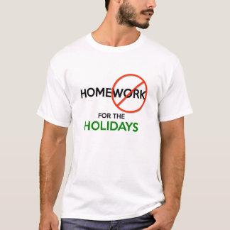 休暇のTシャツ(w/Shadow)上の宿題無し Tシャツ