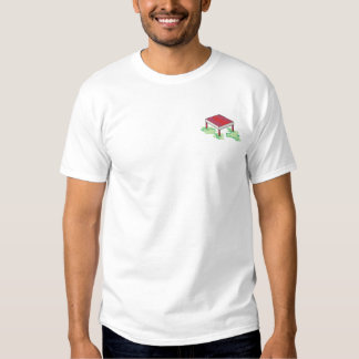 休止のテーブル 刺繍入りTシャツ