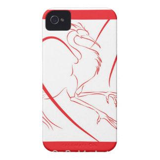 休止状態のフェニックスのブラックベリーカバー Case-Mate iPhone 4 ケース