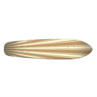 休閑中色のストライプのファンキーなパターン 21.6CM スケートボードデッキ