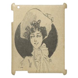 会うために喜ぶヴィンテージの美女の新紀元! iPadカバー