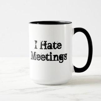 会合はマグを言うおもしろいなオフィスをカスタマイズ マグカップ