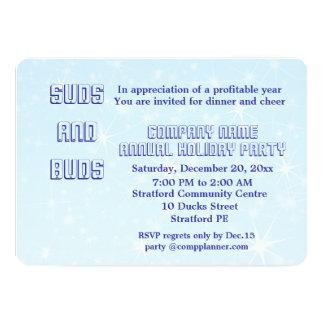 会社の休日のパーティの招待 カード