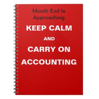 会計の月末の引用文-続けていくために平静を保って下さい ノートブック
