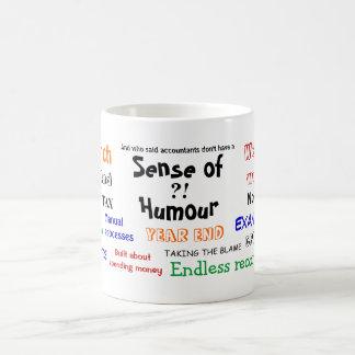 会計士のユーモアか。! (イギリス) コーヒーマグカップ