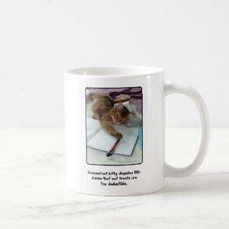 会計士の子猫のマグ コーヒーマグカップ