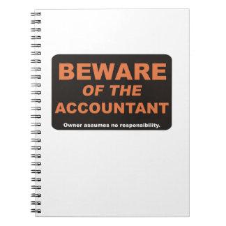 会計士の用心して下さい ノートブック