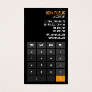 会計士の計算機の財務顧問 名刺