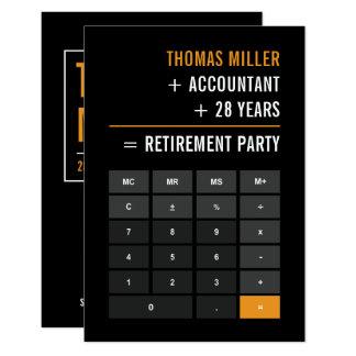 会計士の退職パーティー 8.9 X 12.7 インビテーションカード
