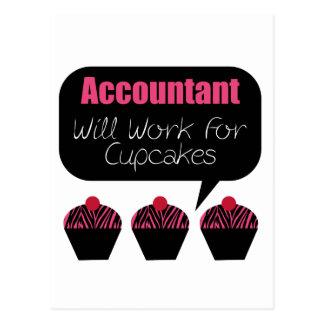 会計士はカップケーキのために、働きます ポストカード