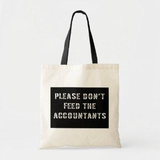 会計士を食べ物を与えないで下さい トートバッグ