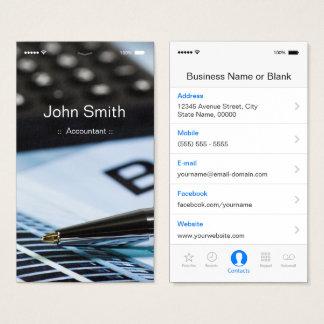 会計士- iPhone iOSカスタマイズ可能で平らなUIのスタイル 名刺
