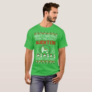 会計検査官の醜いセーターのTシャツからのメリークリスマス Tシャツ