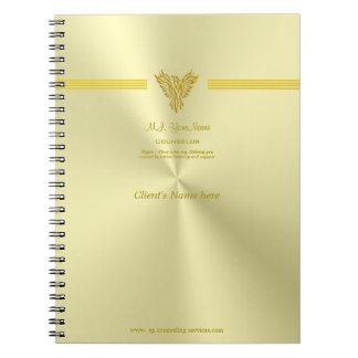 会議のノートに勧めること、金ゴールド上昇のフェニックス ノートブック