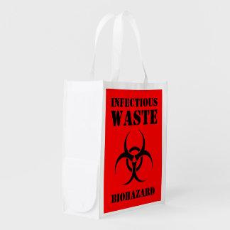 伝染性の不用な生物学的災害[有害物質]のトリック・オア・トリートのバッグ エコバッグ