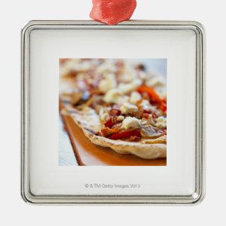 伝統的でイタリアンなピザ メタルオーナメント