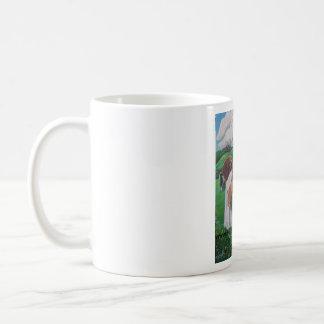 伝統的でロマンチックな馬およびヴァンMug コーヒーマグカップ