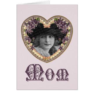 伝統的で幸せな母の日カード カード
