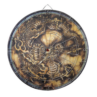 伝統的で日本のな東洋のドラゴン-日本-鳴き龍 ダーツボード