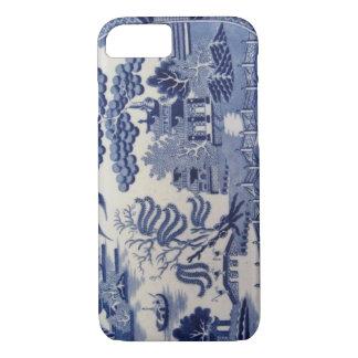 伝統的で19世紀で青いヤナギの中国の箱 iPhone 8/7ケース