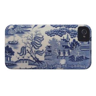 伝統的で19世紀で青いヤナギの中国iphone4 Case-Mate iPhone 4 ケース