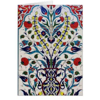 伝統的なイスラム教の花柄のタイル カード