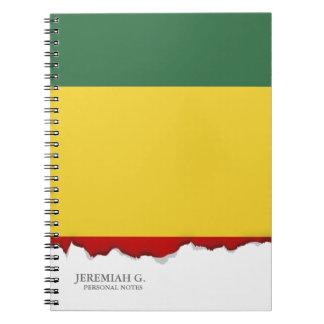 伝統的なギニーの旗 ノートブック