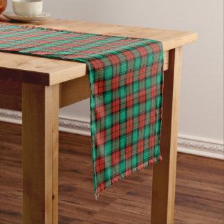 伝統的なクリスマスの格子縞 ショートテーブルランナー