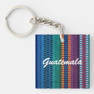 伝統的なグアテマラの生地の織り方のカスタムの文字 キーホルダー