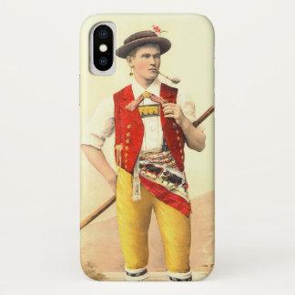 伝統的なスイスの衣裳のAppenzellからのカウボーイ iPhone X ケース