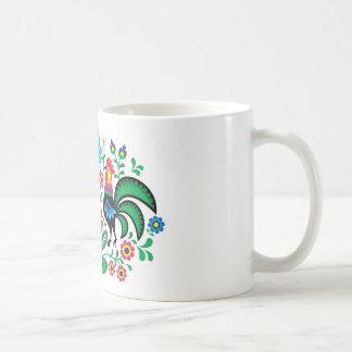 伝統的なポーランドの花の民俗刺繍パターン コーヒーマグカップ