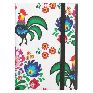 伝統的なポーランドの花の民俗刺繍パターン iPad AIRケース