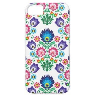 伝統的なポーランドの花の民俗刺繍パターン iPhone SE/5/5s ケース