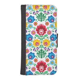 伝統的なポーランドの花の民俗刺繍パターン iPhoneSE/5/5sウォレットケース