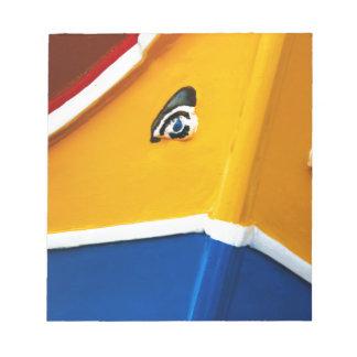 伝統的なマルタのボートLuzzu ノートパッド