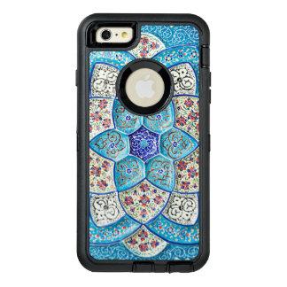 伝統的なモロッコの青緑、白、サケ オッターボックスディフェンダーiPhoneケース