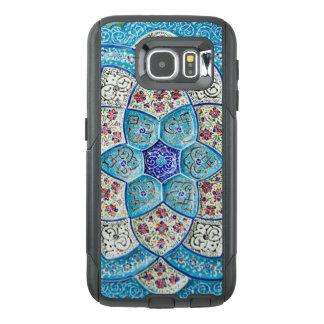 伝統的なモロッコの青緑、白、サケ オッターボックスSamsung GALAXY S6ケース