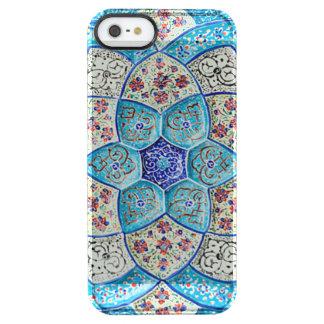 伝統的なモロッコの青緑、白、サケ クリア iPhone SE/5/5sケース