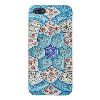 伝統的なモロッコの青緑、白、サケ iPhone SE/5/5sケース
