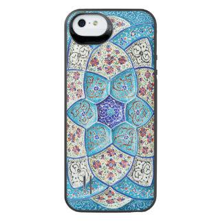 伝統的なモロッコの青緑、白、サケ iPhone SE/5/5sバッテリーケース