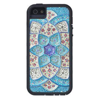 伝統的なモロッコの青緑、白、サケ iPhone SE/5/5s ケース