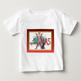 伝統的なヴィンテージのクリスマス ベビーTシャツ