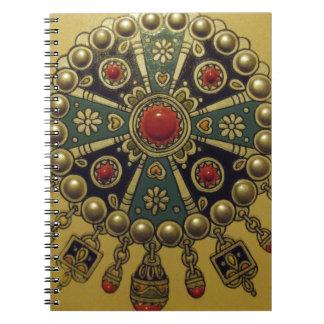 伝統的な北のアフリカの宝石類 ノートブック
