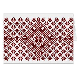 伝統的な北欧のデザイン カード