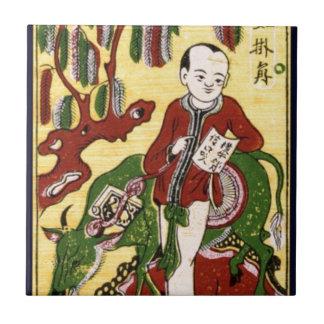伝統的な文化ベトナム 正方形タイル小